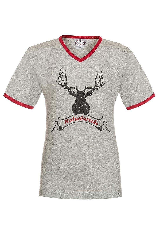 Stützle Jungen Kinder Shirt grau Naturbursche 140886