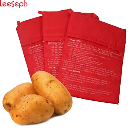 Amazon Star Five Store Microwave Potato Bag Red 10 Inch 3