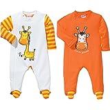Baby Butt Schlafanzug 2er-Pack mit Druckmotiv Giraffe Interlock-Jersey
