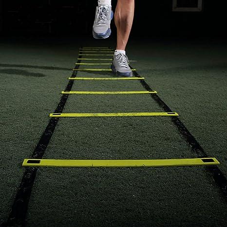 grofitness Durable 9 peldaño 5 m agilidad escalera para fútbol fútbol entrenamiento de velocidad escaleras: Amazon.es: Deportes y aire libre