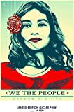 RARE POSTER graffiti SHEPARD FAIREY we the people defend dignity 2017 REPRINT giclee #'d/100!! 12x18