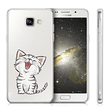 Funda Samsung Galaxy A3 2017 A320 Lindo gato Mariposas Suave ...