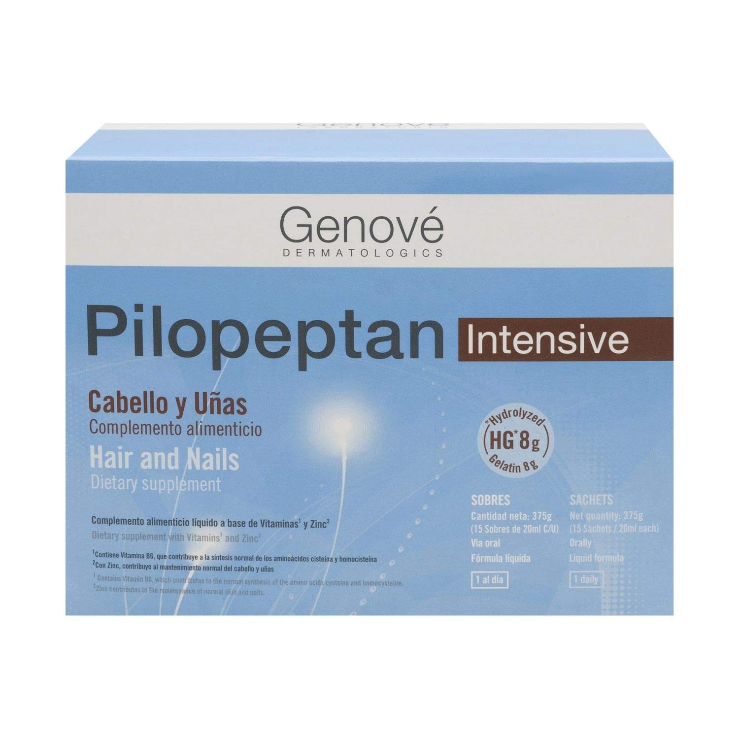 Amazon.com : Genové Pilopeptan Intense Hair And Nails 15 Satches - Anti Hair Loss Treatment - Hair Regrowth Treatment - Collagen for Your Nails : Beauty