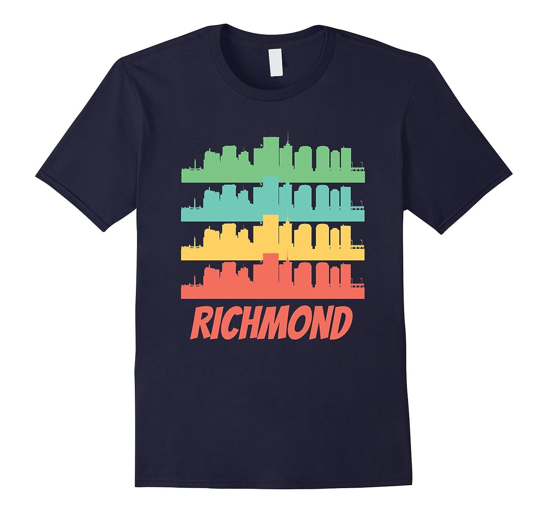 T shirt design richmond va - Richmond Va Skyline Retro Style Pop Art T Shirt