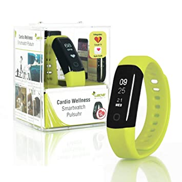 Sharon Wellsmart Cardio Sport - Pulsera Reloj inteligente Fitness Tracker, Bluetooth Ritmo Cardíaco, Impermeable, Integra Apple Health Google Fit