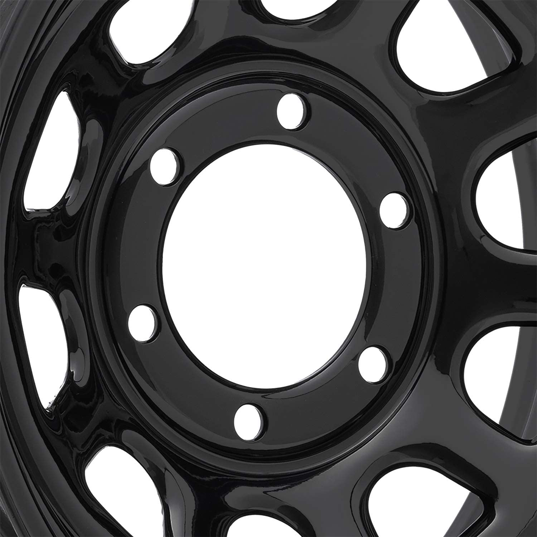 16X8 Vision 85 Soft 8 6x139.7 ET-12 Black Rims Set of 4