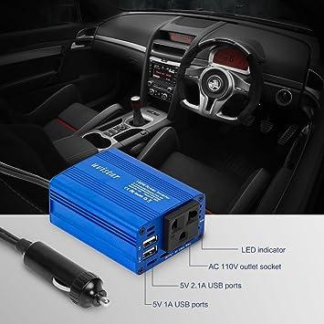 Uvistar 150W Inversor De 12V A 230V Con 2 Cargador USB Con ...