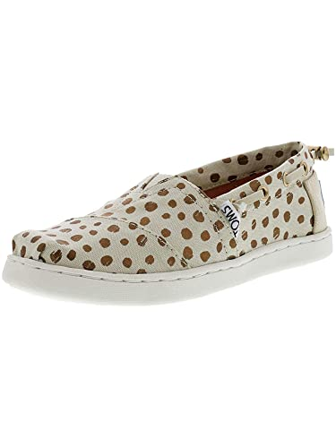 9b34381eca5 Image Unavailable. Image not available for. Color  TOMS Kids Girl s Bimini  (Little Kid Big Kid) Rose Gold Dots ...
