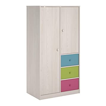 Delightful Cosco Kids Furniture Applegate Armoire With Fabric Bins, Enchanted Pine