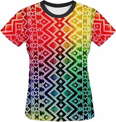 Zenzzle - Camiseta para Mujer con diseño Tribal Mexicano Azteca: Amazon.es: Ropa y accesorios