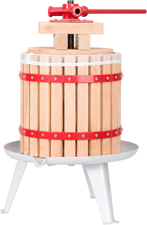 TecTake Prensador de Fruta Extractor Filtro Jugo Exprimidor Manual Prensa Naranja | Incl. paño de Prensa - Varias tamaños - (12 litros | no. 402019)