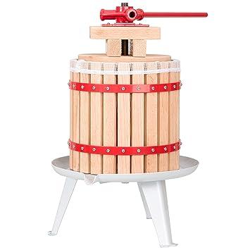 TecTake Prensador de Fruta Extractor Filtro Jugo Exprimidor Manual Prensa Naranja | Incl. paño de prensa - varias tamaños - (12 litros | no.