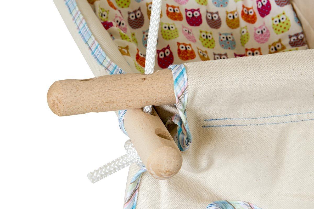 natur Hängebettchen aus 100/% Bio-Baumwolle von Petite planète Zébulhamac Babybettchen Hängeschaukel Hängebett