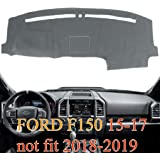 15-18 Black Yiz Dash Cover Dashboard Cover Pad Mat Custom Fit for Ford F150 2015 2016 2017 2018 Y37