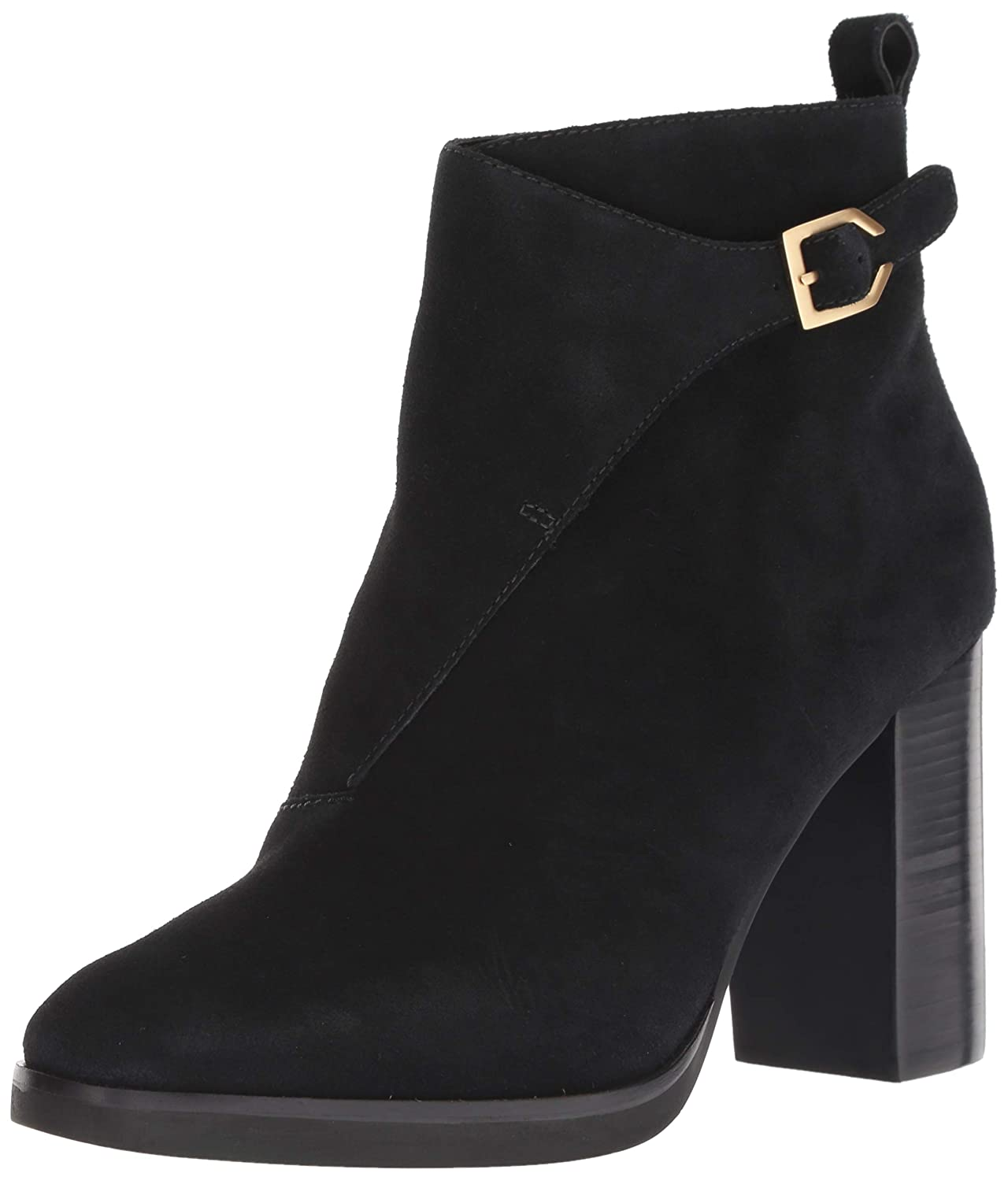 Black Suede Cole Haan Womens Harrington Grand Riding Bootie (85mm) Ankle Boot