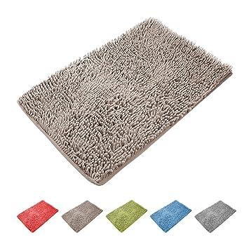 tapis bain antidrapant kzkr tapis de bain absorbant antidrapant 40cmx60cm tapis de douche microfibre de chenille - Tapis De Bain Antiderapant