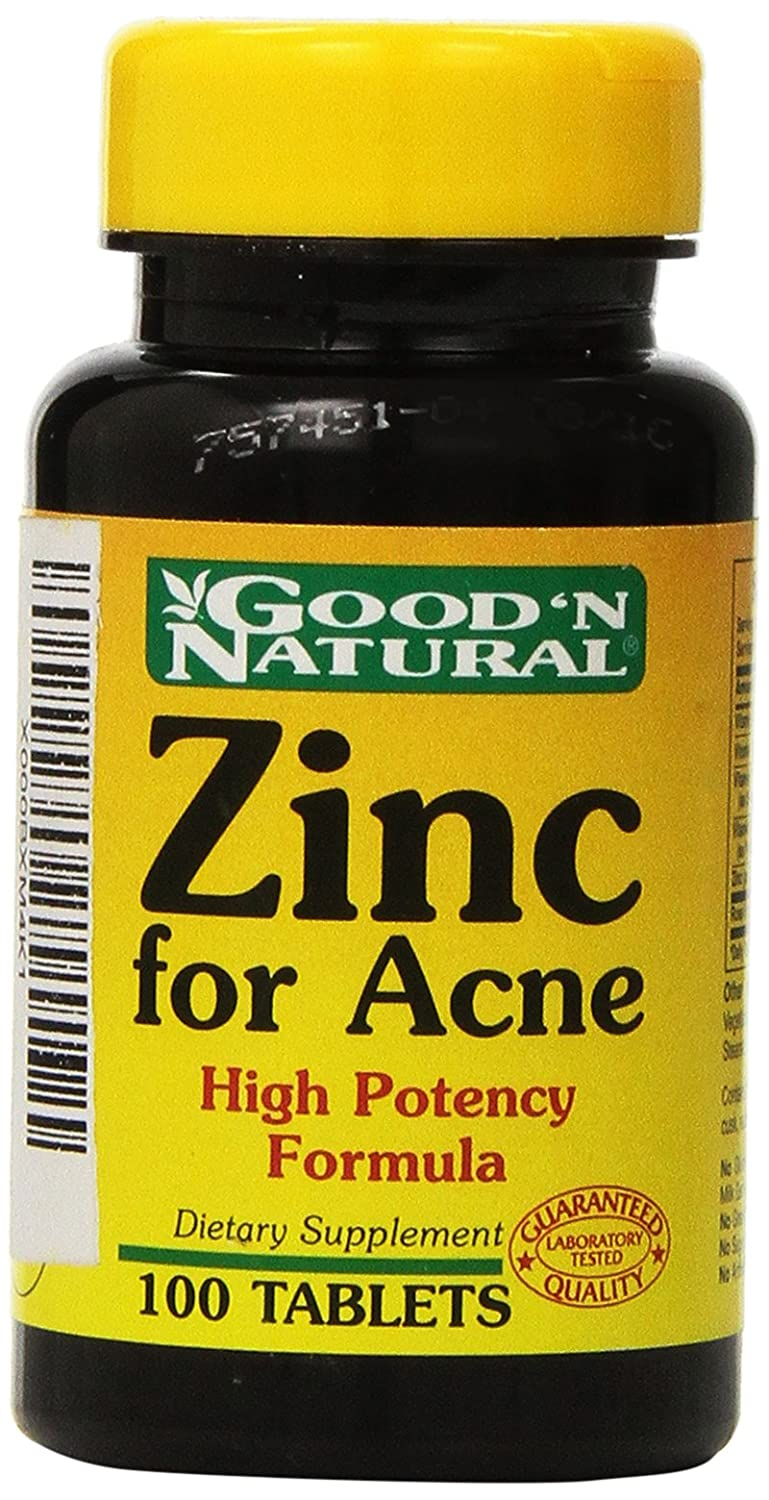 Amazon Com Zinc For Acne 100 Tabs Good N Natural Health