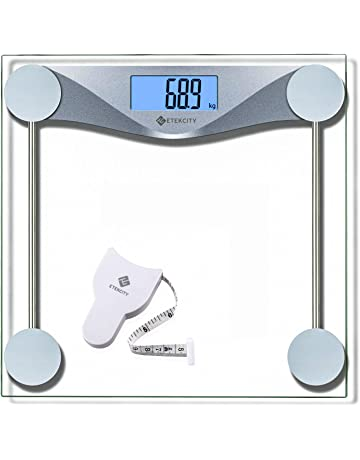 ETEKCITY EB4074C Báscula de Baño Digital de Alta Medición Precisa 180 kg / 400 lbs con