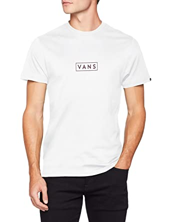 bd95c308 Vans_Apparel Men's Easy Box Ss T-Shirt, (White Wht), Small
