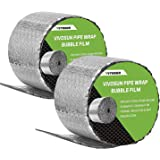 VIVOSUN Insulated Spiral Pipe Wrap Insulation Bubble Film 6-Inch by 25-Feet, 2 Pack
