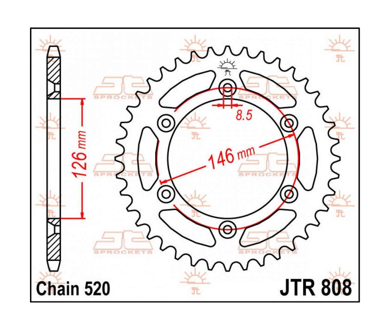 DRZ 400 TSR//DR 250-350 RMZ 250-450 SUZUKI RM 125-250 COURONNE ACIER 41 DENTS JTR808.41