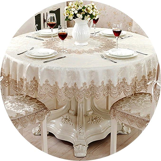 Mantel Redondo clásico de Flores de Rosa para decoración de Mesa, Encaje, Elegante, para Mesa de Comedor, Armario, Silla, Juego: Amazon.es: Hogar