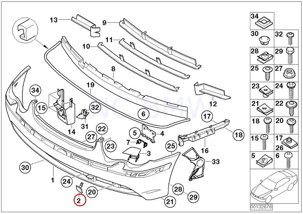 amazon bmw genuine primed towing eye flap automotive 2004 BMW 325I Wiring Diagram
