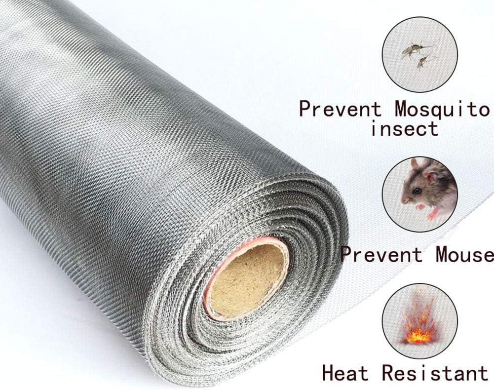 24x118inch LRQY Aluminio Mosquitera para Puerta Ventana,Malla de Insectos roedor Alambre,304 de Acero Inoxidable,por Control de plagas Malla de Seguridad de corrosi/ón,60x300cm
