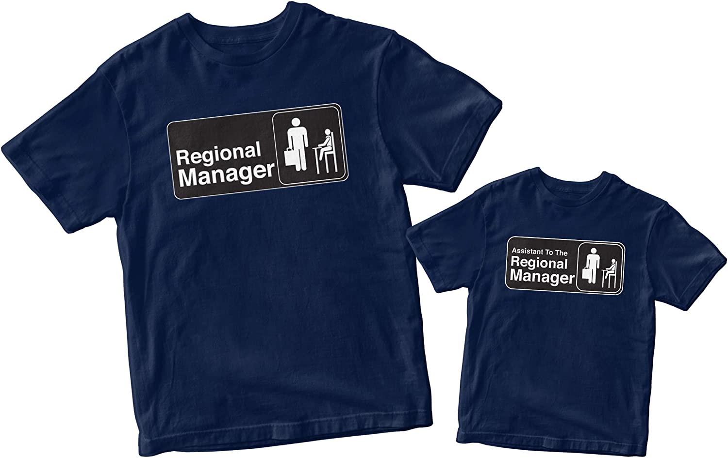 Regional Manager/Assistant to The Regional Manager Matching Family Shirts