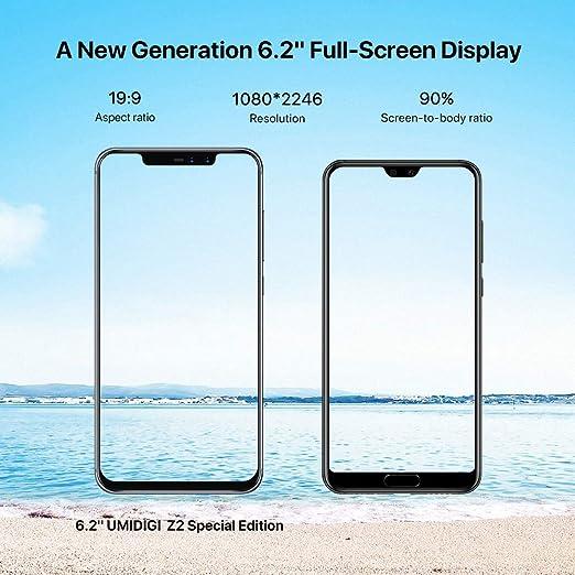 ... Smartphones con Bandas Globales Android 8.1Smartphone 19: 9 FHD 6.2 Pulgadas, 4GB RAM + 64GB ROM, 18MP + 8MP Cámara cuádruple: Amazon.es: Electrónica