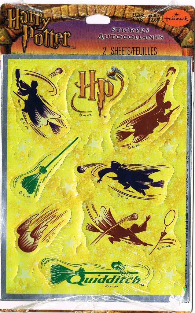 Harry Potter Quidditch Silhouette Stickers from Sorcerer's Stone
