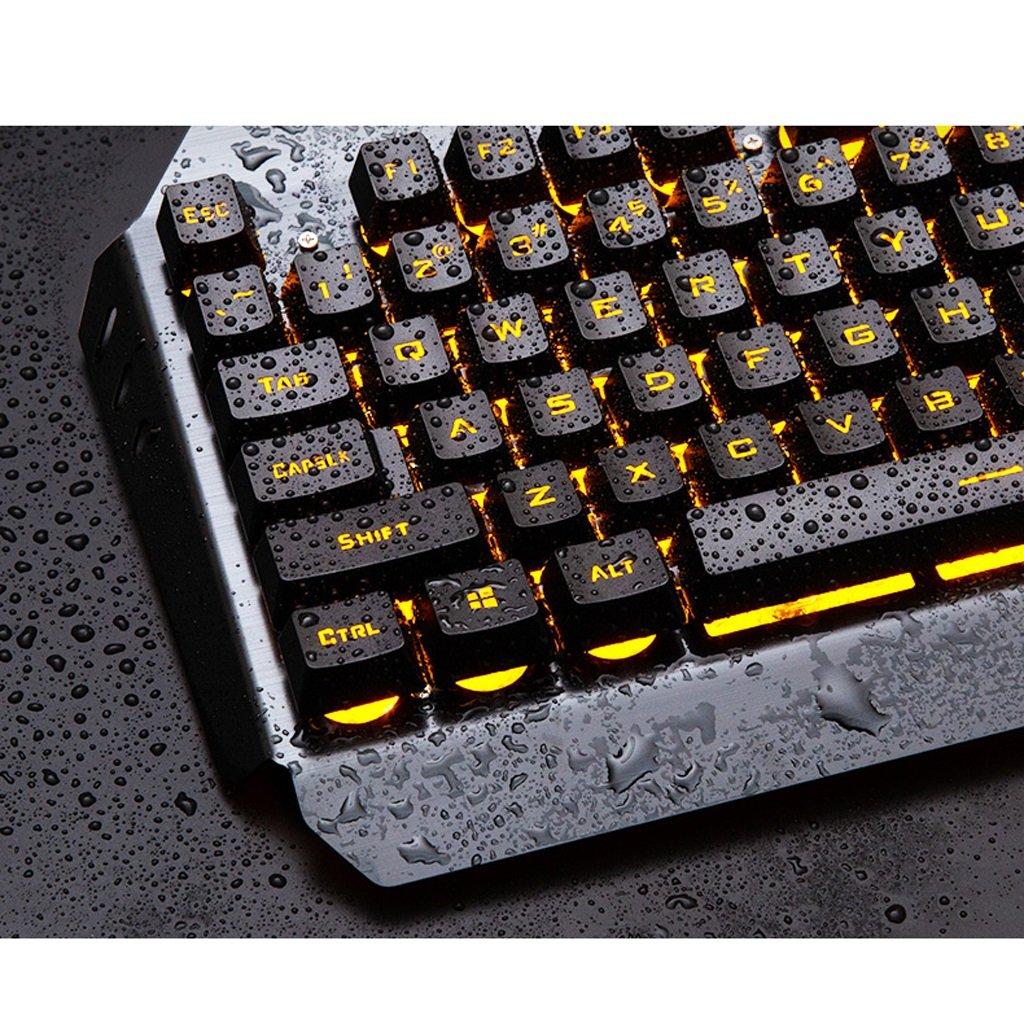 Gaming Mouse Gaming Keyboard Combo RGB LED retroiluminado Teclado y Ratón Set Gaming Mouse y Teclado Silent 104 Key PC PC Gaming Teclado con reposamuñecas ...