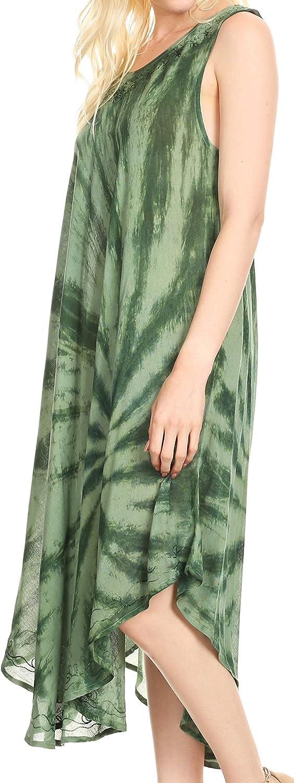 Sakkas Tia Casual Summer Maxi Loose Fit Tank Dress Femmes Cover-up