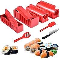 11 Pcs Sushi Making Kit - DIY Sushi Maker for Beginners Home Sushi Kit with 8 Sushi Rice Roller Molds+ Sushi Knife, Perfect Homemade Sushi Making Kit