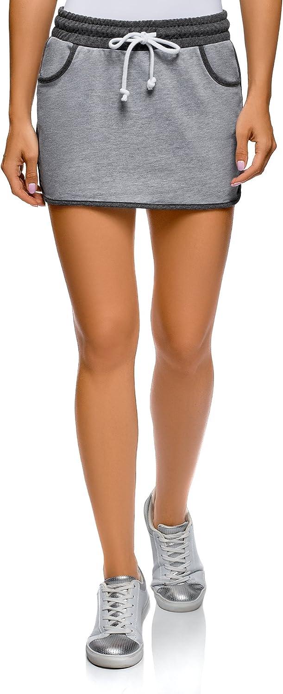 oodji Ultra Womens Jersey Skirt with Elastic Waistband