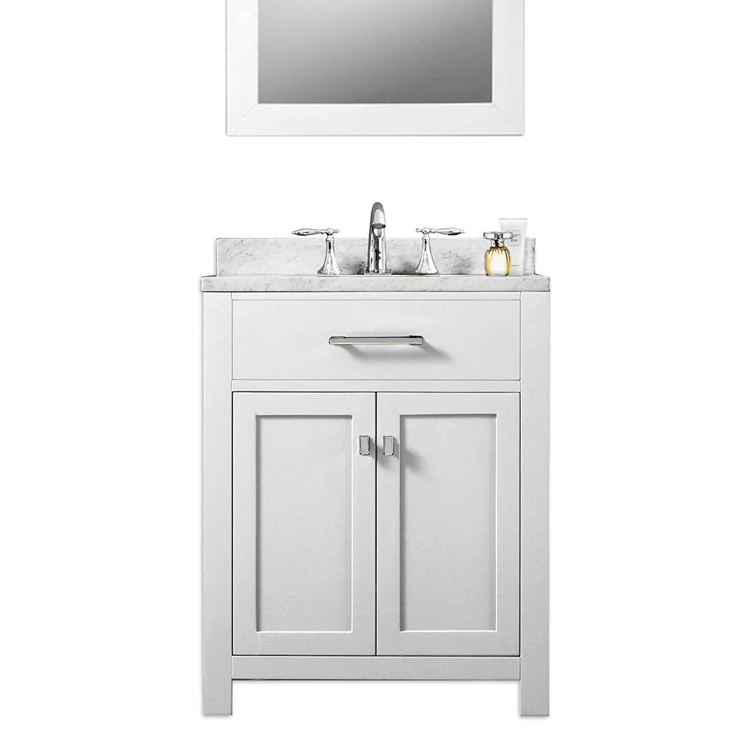 32 inch vanities for bathroom - Water Creation Madison 24w 24 Solid White Single Sink Bathroom Vanity From The Madison Collection Pure White Amazon Com