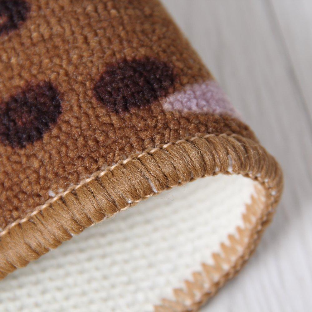Carvapet 3 Piece Non-Slip Kitchen Mat Rubber Backing Doormat Runner Rug Set, Coffee Design (Brown 15''x47''+15''x23'') by Carvapet (Image #5)