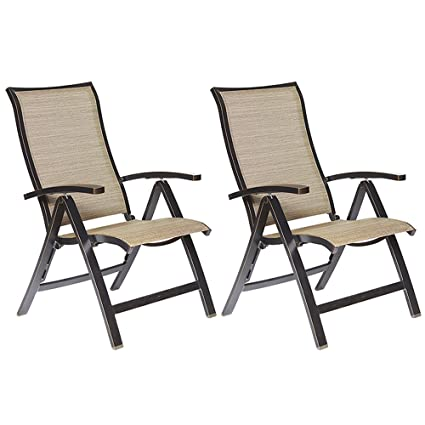 Fine Dali Folding Chairs With Arm Patio Dining Chairs Cast Aluminum Reclining Folding Chair Outdoor Furniture 2 Pcs Set Evergreenethics Interior Chair Design Evergreenethicsorg