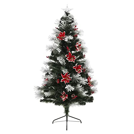 Mr Crimbo Pre Lit Decorated Christmas Tree Artificial Green Pine