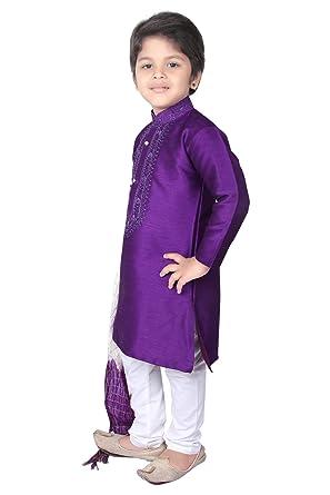 9ef081635 BEDI'S Long Kurta Pyjama Wedding Party Wear Boys Toddler Infant Ethnic  Traditional Wear (BOY-