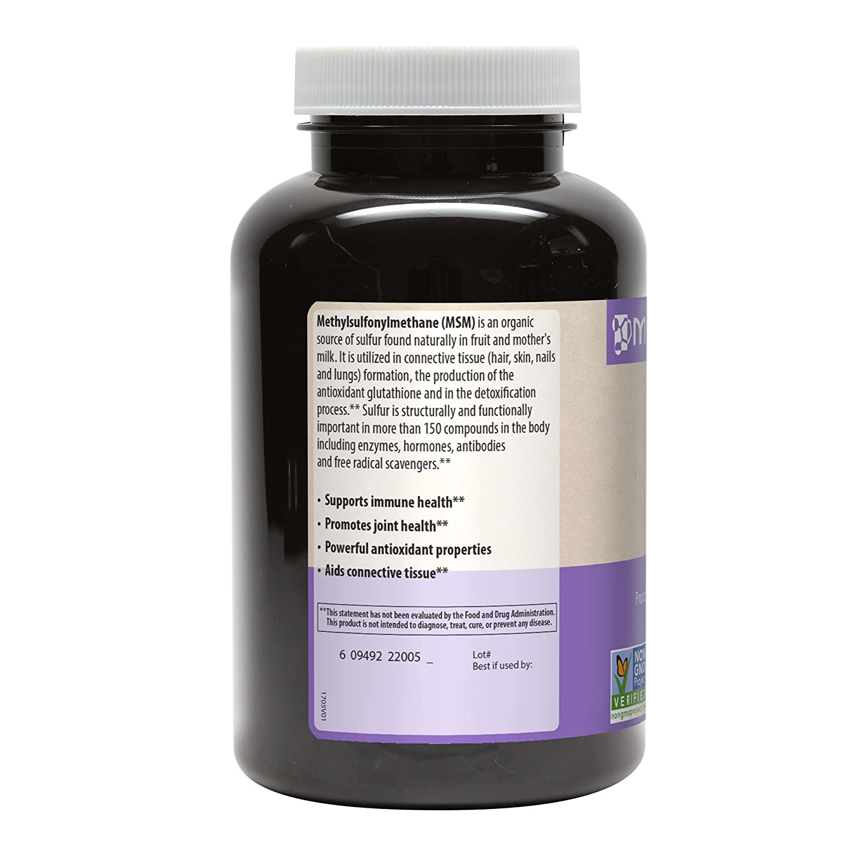 MRM MSM Vegetarian Capsules, 1000 mg, 120-Count Bottles