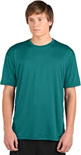 product image for WSI Microtech Loose Short Sleeve Shirt, Teal, Youth Medium