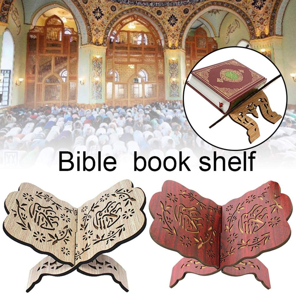 Oddity Soporte de Libro de Madera Estante de Libro Soporte de Libro Sagrado Soporte Biblia