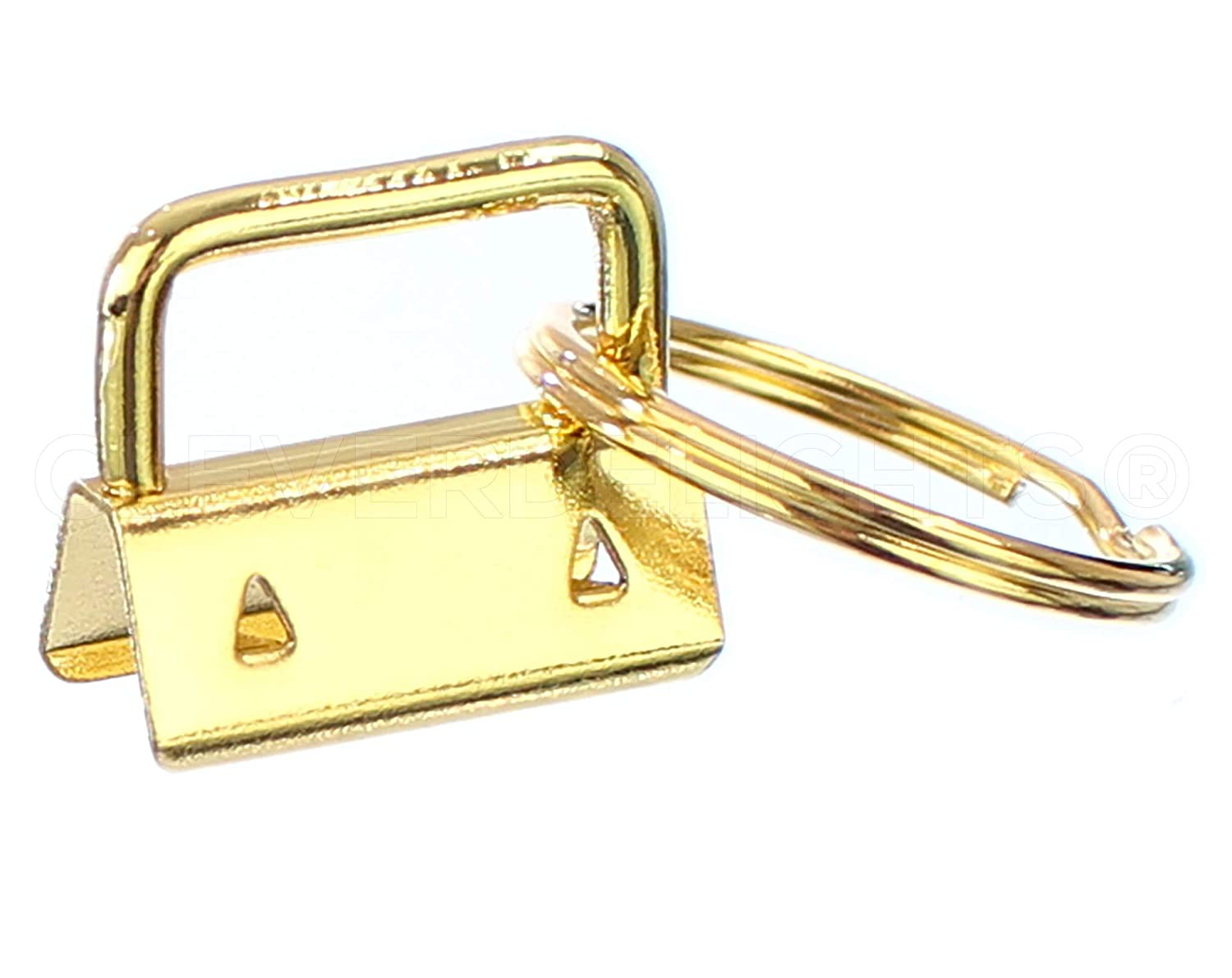 """Key Rings 1/"""" Key Fob Hardware Set For 1 Inch Lanyards Key Chains 100 Sets"""