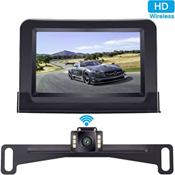 Justech 2.4G Wireless Camera Car Kit Video Transmitter Receiver for Vehicle Backup Camera Front Rear Car Camera