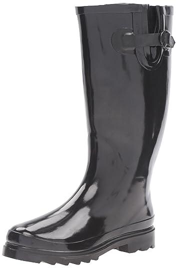 Amazon.com | Sunville Brand Women's Rubber Rain Boots | Rain Footwear