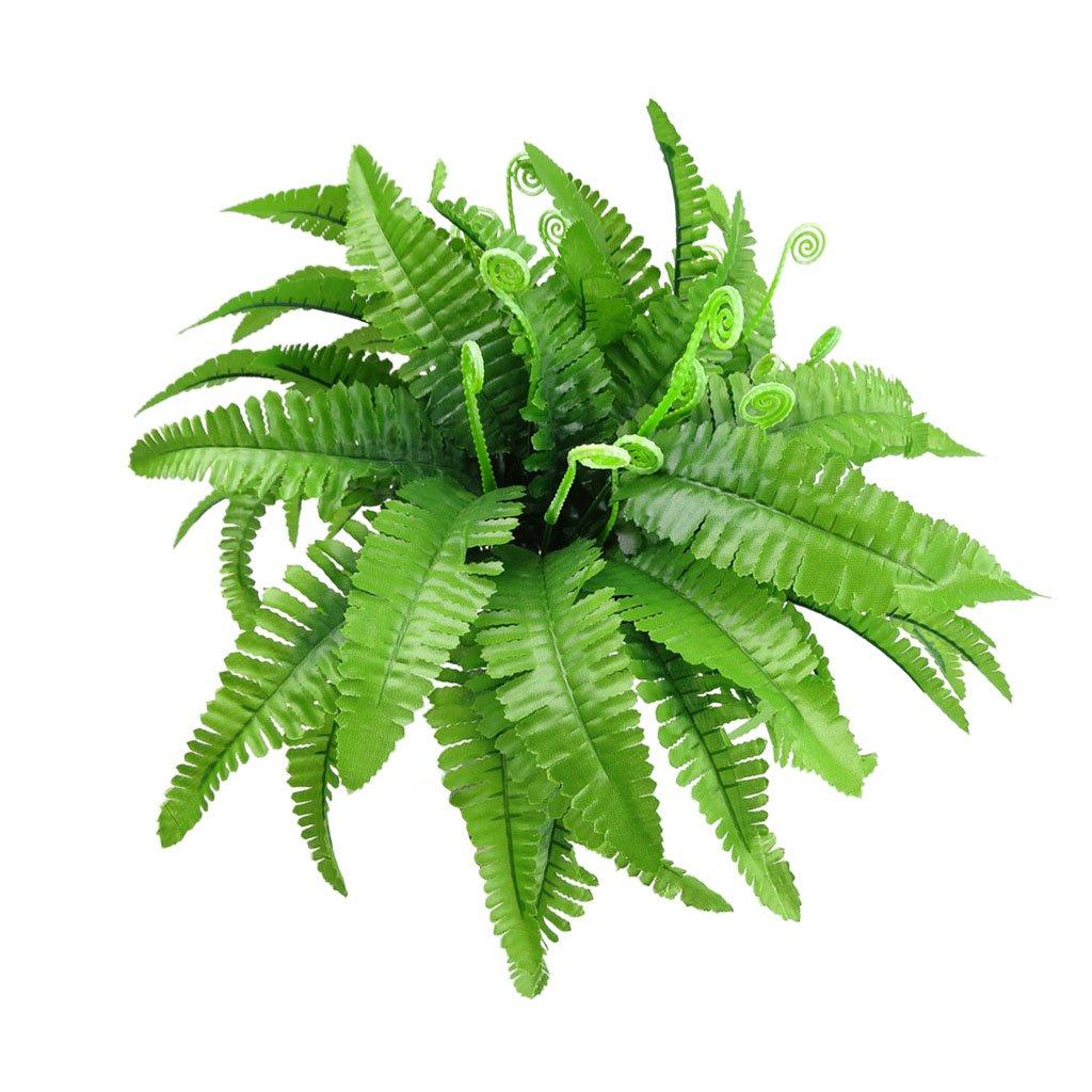 2pcs Plantes Artificielles 7-Branches Feuille Persan Vert Décoration Generic