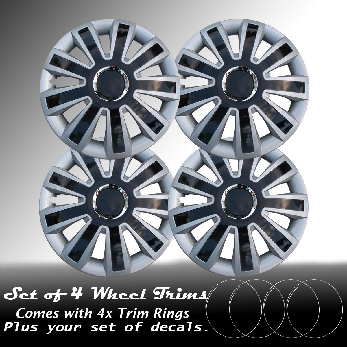 CHECK WHEEL SIZE Wheel Trims 15 CITROEN XSARA PICASSO 00-09 Set 4 NEW wlw