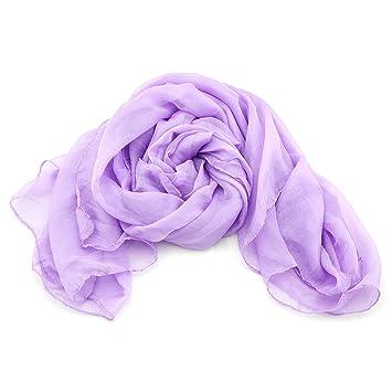 XXL Damen Schal Stola leichter und schlichter Damenschal in weiß Sommerschal