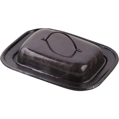 Home Essentials Blackened Galvanized Butter Dish